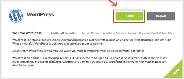 התחלת התקנת וורדפרס ב - התקנת וורדפרס ב - BlueHost