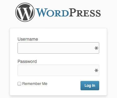 התחברות לוורדפרס (WordPress)